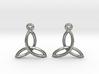 Celtic Knot Earrings 3d printed