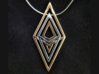 S's ZigZag Pendent (piece 1)  3d printed Bronze outer and Rhodium Plated inner. Piece 2 and 1 respectivly