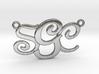 Custom Monogram Pendant - SCG 3d printed