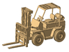 1/64th Hyster Type Forklift 3d printed