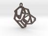 Geometric Labrador Necklace 3d printed