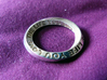 Live The Life You Love - Mobius Ring 3d printed Polished Silver