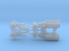 British WW I 6 inch 26 cwt Howitzer w. FWD Tractor 3d printed