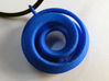 Spiral with ball and keyring 3d printed Royal Blue Strong & Flexible Polished
