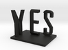 Yes/No by Markus Raetz 3d printed