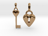 2 Pendants Hollow Heart and Key to Heart 3d printed