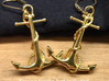 Anchor Earrings 3d printed