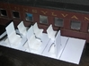 HO Coach Seating (96) 3d printed Spacing matched up to an Athearn Coach Car