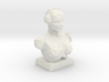 Player's bust: Headphones. 3d printed White strong and flexible.
