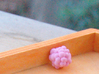 Crystal and Lumpy Space Rock 3d printed Hand-dyed white strong & flexible lumpy space rock