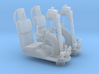 YT1300 5 FOOTER TURRET WELL SEAT SET 3d printed