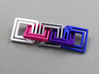 square chain 3d printed 5 pieces combination