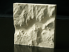 "4'' Yosemite Valley, California, USA, Sandstone 3d printed Photo of actual 4"" print, North is up"