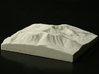 4'' Mt. Katahdin, Maine, USA, Sandstone 3d printed Photo of actual 3D model, looking North at the South-facing slope of Mt. Katahdin.