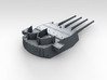 "1/570 HMS King George V 14"" Turrets 1941 3d printed 3d render showing product detail (X Turret)"