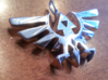 Hyrule Triforce Charm 3d printed