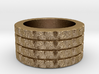 Lucky Four Ring Design Ring Size 7.5 3d printed