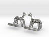 Alpaca Cufflinks 3d printed