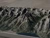 Grand Tetons, Wyoming, USA, 1:50000 3d printed