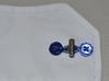 Circuit board cufflinks 3d printed