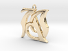Monogram Initials AJ Pendant 3d printed