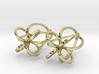 Finials - Pair of Earrings in Metal 3d printed