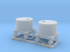HO 2 x Small Water Tanks and Stands 3d printed