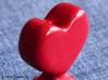 Pie Funnel in a heart shape 3d printed Gloss Red Porcelain