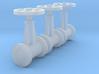 """'N Scale' - (3) 20"""" Diameter Valves 3d printed"""