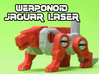 Jaguar Laser Transforming Weaponoid Kit (5mm) 3d printed White strong and flexible print, hand painted.