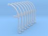 1/72 IJN Davits For Cutter 9m Set 3d printed