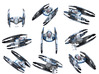Vulture Droid Squad 9-pack  1/270 3d printed