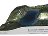 Devil's Lake Map - Bathymetry 3d printed