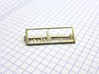 Mass Spectrum Tie Bar - Science Jewelry 3d printed Mass Spec tie bar in polished silver