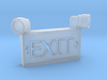 1/10 SCALE EXIT SIGN OPEN BACK 3d printed