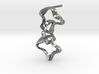 Mind generated earring - my idea against racism 3d printed