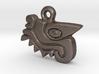 Aztec Crocodile Pendant 3d printed