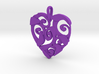 Curly Heart Pendant 3d printed