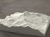 6'' Mt. Baker, Washington, USA, Sandstone 3d printed Radiance rendering of model data, viewed from the West