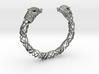 Viking wolf head bracelet size M 3d printed