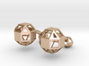 Rhombicuboctahedron cufflinks 3d printed