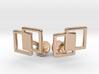 Interlocking Cufflinks 3d printed