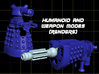 Assault Shaker Transforming Weaponoid Kit (5mm) 3d printed Render of figure in both modes.