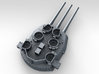 "1/600 16""/45 MKI HMS Nelson Turrets 1945 3d printed 3d render showing X Turret detail"