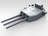 """1/700 16""""/45 MKI HMS Nelson Turrets 1945 3d printed 3d render showing B Turret detail"""