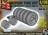 1-16 Chevy LRDG Tire And Rims 3d printed
