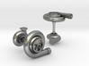 Turbocharger Cufflinks 3d printed