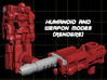 "Diaclone Datson Specialist Weaponoids (5mm) 3d printed Render of ""Locke Stockton"" figure in both modes"