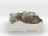 Aconcagua, Argentina, 1:250000 Explorer 3d printed