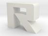 ROG font - R 3d printed